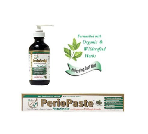 Oral Health Package   Includes Periopaste  Organic Toothpaste   Perioscript  Oral Cleansing Concentrate