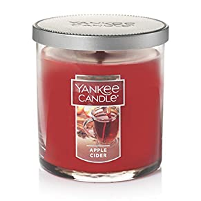 Yankee Candle Small Tumbler Jar Apple Cider Scented Premium Paraffin Grade Candle Wax with up to 55 Hour Burn Time