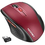 Image of TeckNet Classic 2.4G Portable Optical Wireless Mouse with USB Nano Receiver for Notebook,PC,Laptop,Computer,6 Buttons,18 Months Battery Life,2400 DPI,5 Adjustment Levels