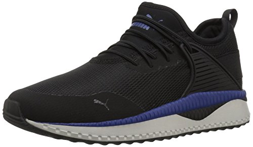 (PUMA Unisex Pacer Next Cage AC Kids Sneaker, Black-Sodalite Blue-Gray Violet, 12 M US Little)