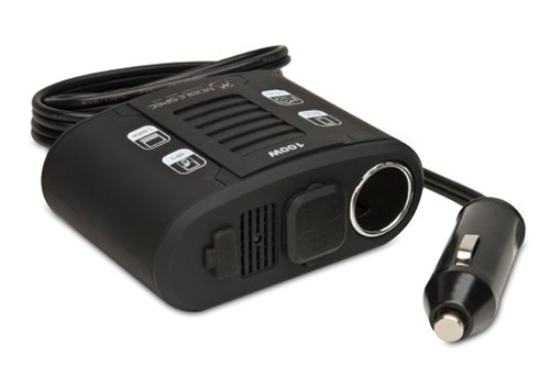(Mobile Spec MS100W 100-Watt DC to AC Power Inverter with USB Input and 12-Volt Port)