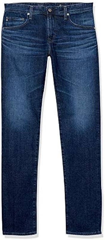 AG Adriano Goldschmied Męskie Tellis Modern Slim Fit Led Denim Jeans: Odzież