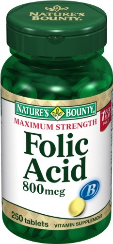 Nature's Bounty Folic Acid, 800mcg, 250 Tablets (Pack of 24) by NATURE S BOUNTY