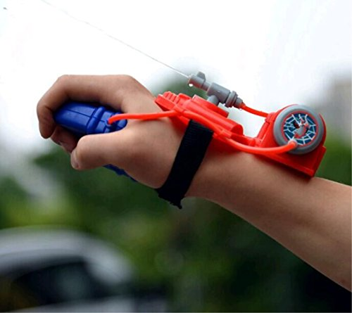 Spider Man Water Gun - GH8 Wear on The arm Mini Plastic Toy Water Guns for Kids Play in Summer Red Color