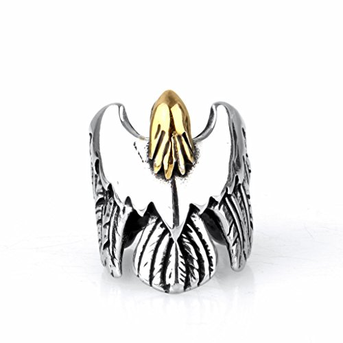 Jewelry Home Vintage Men Punk New Arrival Eagle Shape Stainless Steel Ring Size - Warehouse New Arrivals