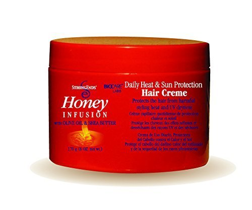 Strong Ends Honey Infusion Daily Heat & Sun Protection Hair Creme, 6 Oz from Strong Ends