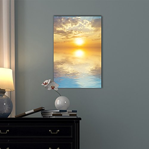 Abstract Landscape with The Sun Rising Above The Sea
