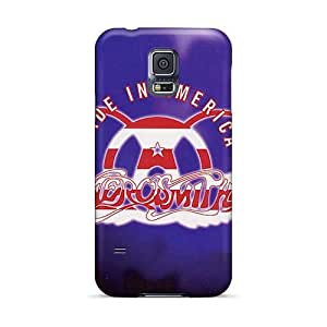 Anti-Scratch Cell-phone Hard Cover For Samsung Galaxy S5 With Custom Lifelike Aerosmith Band Skin TammyCullen