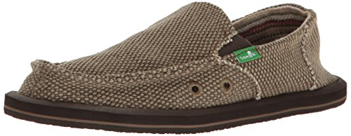 Sanuk Kids Vagabond Boys Loafer, Brown, 05 M US Big Kid