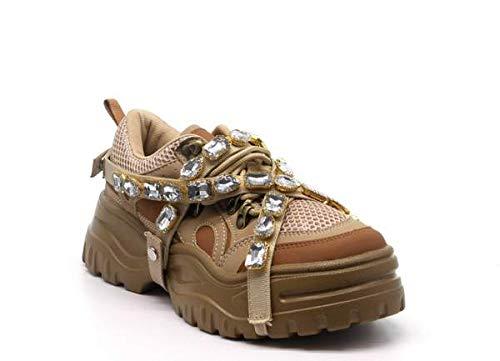 f82e3a46b74 CAPE ROBBIN Diamond Gemstone Straps Chunky Sole Sneaker Trainers (9