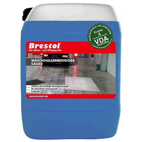 Brestol Washallenreiniger zuur 25 liter concentraat – voor washal wasstraat wasportaal wabox portaal wassysteem…