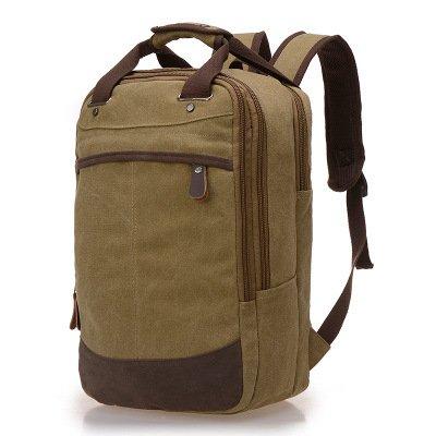 Mefly Freizeitaktivitäten Canvas Bag Koreanischen Stil Retro Mann Canvas Bag Schultern Bergsteigen Tasche Khaki c7092a