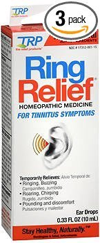 (Ring Relief Homeopathic Ear Drops - 0.33 OZ, Pack of 3)