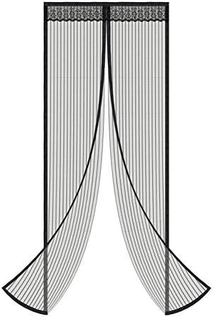 "Magnetic Screen Door Full Frame Magnetic Door Screen with Heavy Duty Mesh Curtain Pet Friendly Bugs Out Screen Door Insect Out Screen Door Mosquito Magnetic Door Screen Door Net (FITS 36"" Door)"