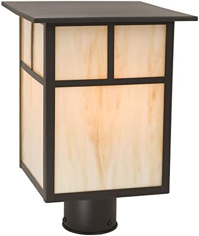 Craftsman Style Outdoor Post Light 13 Inches Tall