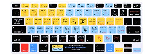 HRH Serato Scratch Live Functional Shortcuts Hotkey Silicone Keyboard Cover Skin for MacBook Air 13,MacBook Pro13/15/17 (with or w/Out Retina Display, 2015 or Older Version)&Older iMac,USA Layout