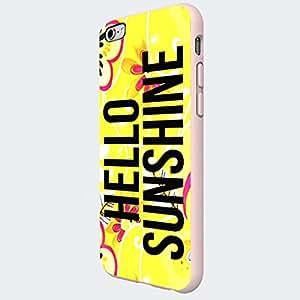 Sunshine Flower Smooth Hardshell Fit For Iphone 6 Plus Hardplastic Back Protector Framed White