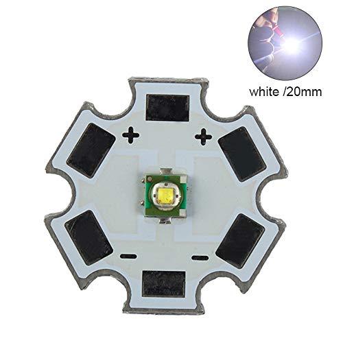 STARmoon XM-L2 10W High Power LED Chip Flashlight Light Bulb Chip High Brightness (White,20Mm)