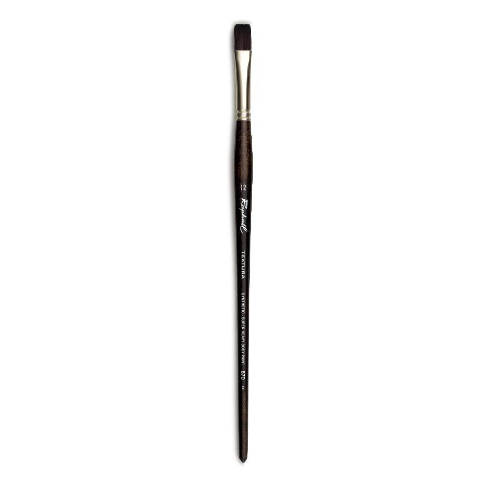Raphael Textura Heavy Duty Synthetic, Acrylic & Thick Medium Brush, Series 870, Flat, Size 12 by Raphael