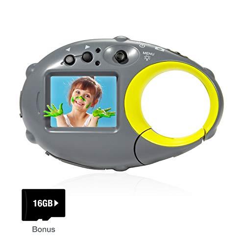 FLAGPOWER Kids Digital Camera with 16GB SD Card, Mini Digital Video Recorder Camcorder Camera, 1.5