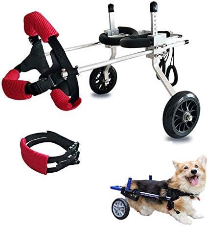 後脚用ペットホイール、犬用車椅子中空アルミニウム合金、大型犬および小型犬用の通気性腹部ベルト付き犬用ジョイントエイド,XS