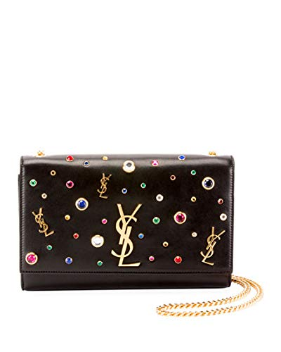 9f8478f664e Saint Laurent Kate Monogram YSL Medium Jewel-Stud Chain Shoulder Bag ...