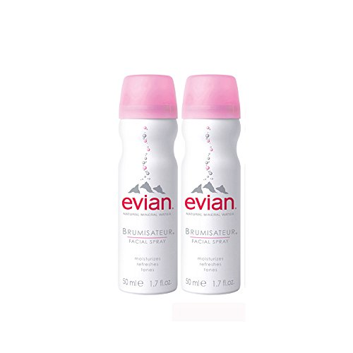 Evian Mineral Water Facial Spray Duo (Set of Two 1.7oz)