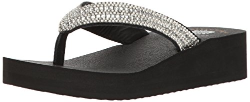 - Yellow Box Women's Katie Wedge Sandal, Clear, 6.5 M US