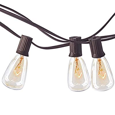 MYHH-LITES 20ft Outdoor Patio String Lights with 21 ST35 Edison Bulbs(1 Extra), UL Listed for Indoor/Outdoor Decor, Perfect for Garden, Backyard, Pergola, Patio, Party, Cafe, Bistro, Wedding