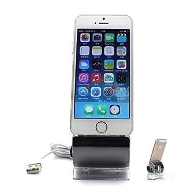 Muelle Soporte Estación de Cargador Carga con Cable Datos USB para iPhone 5 5S 6 6S 6Plus 6S Plus