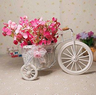 Pink Color Forget Me Not Flower Rattan Car Artificial Flowers Set