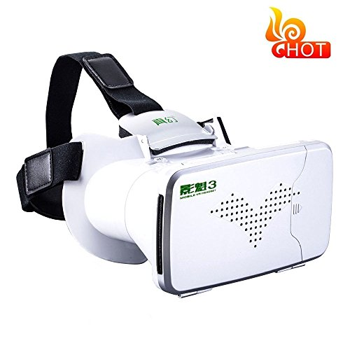 Megadream 3D RIEM 3 VR BOX Augmented Version Glasses Google Cardboard RIEM III 3D VR-BOX for 4~6 inch Smartphones, iPhone6 6s Plus, Samsung Galaxy Note other IOS Android - Googles Gucci
