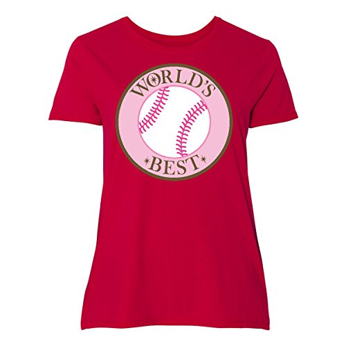 inktastic World's Best Softball Player Women's Plus Size T-Shirt 4 (26/28) - Players Best Softball