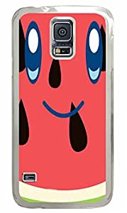 Transparent Fashion Case for Samsung Galaxy S5 Generation Plastic Case Cover for Samsung Galaxy S5 with Smile Watermelon