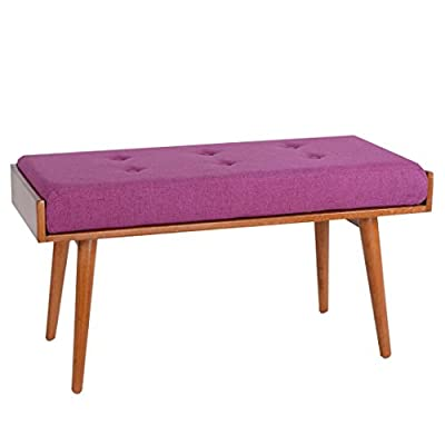 Porthos Home Robin Accent Bench, Violet - VERSATILE design Soft polyester Seat Mid-century inspired - entryway-furniture-decor, entryway-laundry-room, benches - 41V1dq9peAL. SS400  -