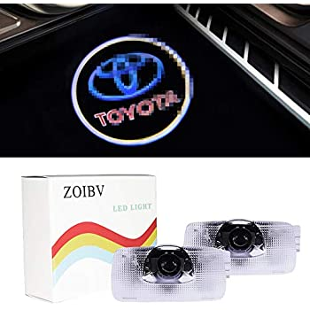 Camry//Prius//Sequoia//Sienna//Tundra//Venza Car Door Lights,Youjoy 4Pack Projector Welcome Logo Light for TOYOTA Toyota1
