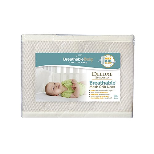 Amazon BreathableBaby Deluxe Embossed Mesh Crib Liner Natural Baby