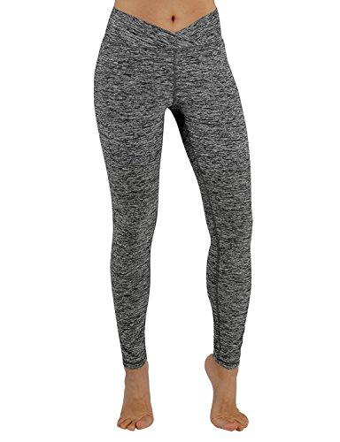 ODODOS Power Flex Yoga Pants Tummy Control Workout Non See-Through Leggings with Pocket,CharcoalHeather,Small ()