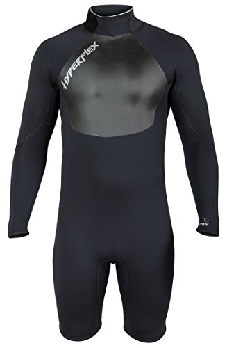 Hyperflex Wetsuits Men's Voodoo 2.5mm Long Sleeve Springsuit, Black, X-Large