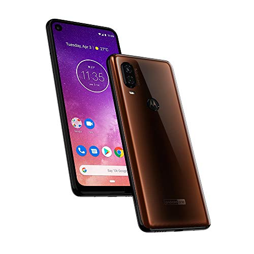 (Motorola One Vision (128GB) 6.3' Full HD Display, 48MP Camera, Dual SIM US + GLOBAL 4G LTE GSM Factory Unlocked XT1970-1 - International Version (Mocha Brown))