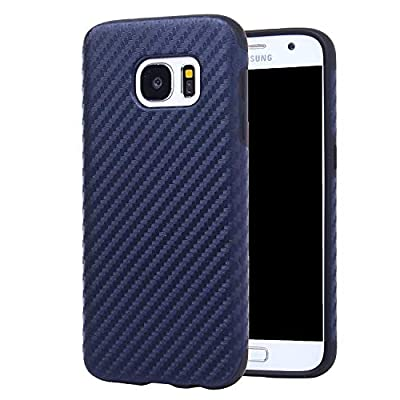 Galaxy S7 Case Carbon Fiber Pattern Style Phone Case Protective Soft TPU Cover Shock Absorbing for Samsung Galaxy S7 Case