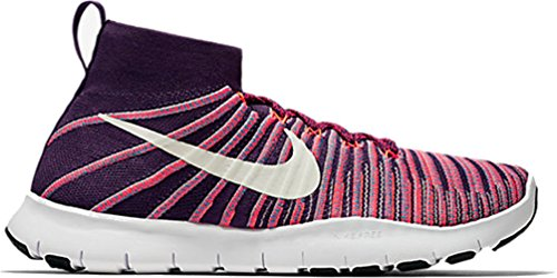 Nike Mens Libre Tr La Force Flyknit Chaussures De Course (8.5, Grand Violet / Blanc)