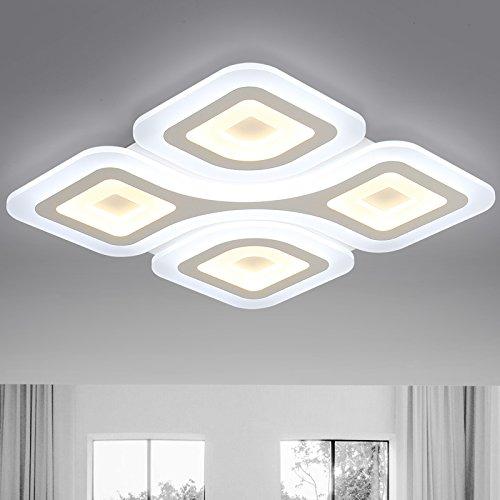 BLYC- Rechteckige LED Lampe schöpferischen Persönlichkeit einfach warm Studie Lampe Schlafzimmer Esszimmer Wohnzimmer Lampe Lampen , 50*50cm