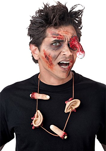 Zombie Eye Patch and Necklace Halloween Costume Accessories Set