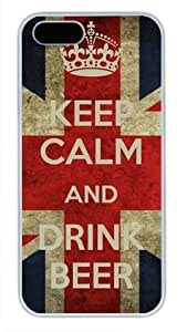 Keep Calm and Drink Beer-4 White Sides Hard Shell Case for Iphone5 and Iphone5S by Sakuraelieechyan