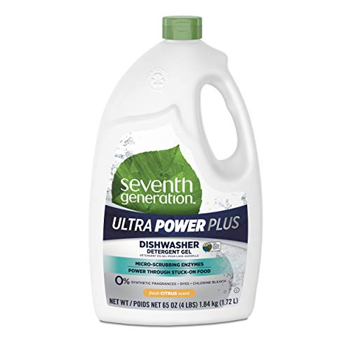 (Seventh Generation Ultra Power Plus Dishwasher Detergent Gel, Fresh Citrus Scent, 65 oz)