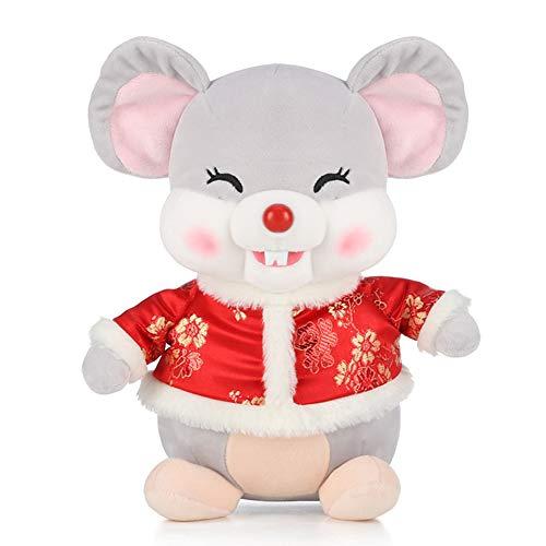 "2020 Chinese New Year Rat Zodiac Mascot Dolls Plush Stuffed Toys for Party Decoration Gift 10"""