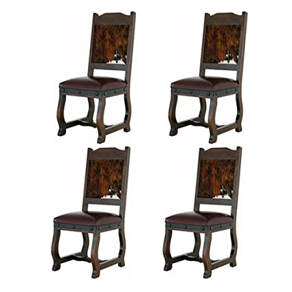Fantastic Amazon Com Four Gran Hacienda Hide Dining Chairs Solid Gmtry Best Dining Table And Chair Ideas Images Gmtryco