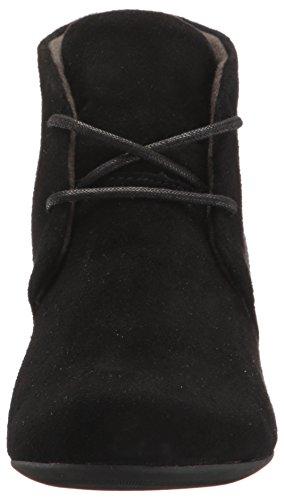 Clarks Damen Stiefel & Stiefeletten schwarze Velourslederoptik