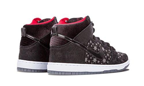 Nike Herren SB Dunk High Premium Skate Schuhe Schwarz / Valiant Rot